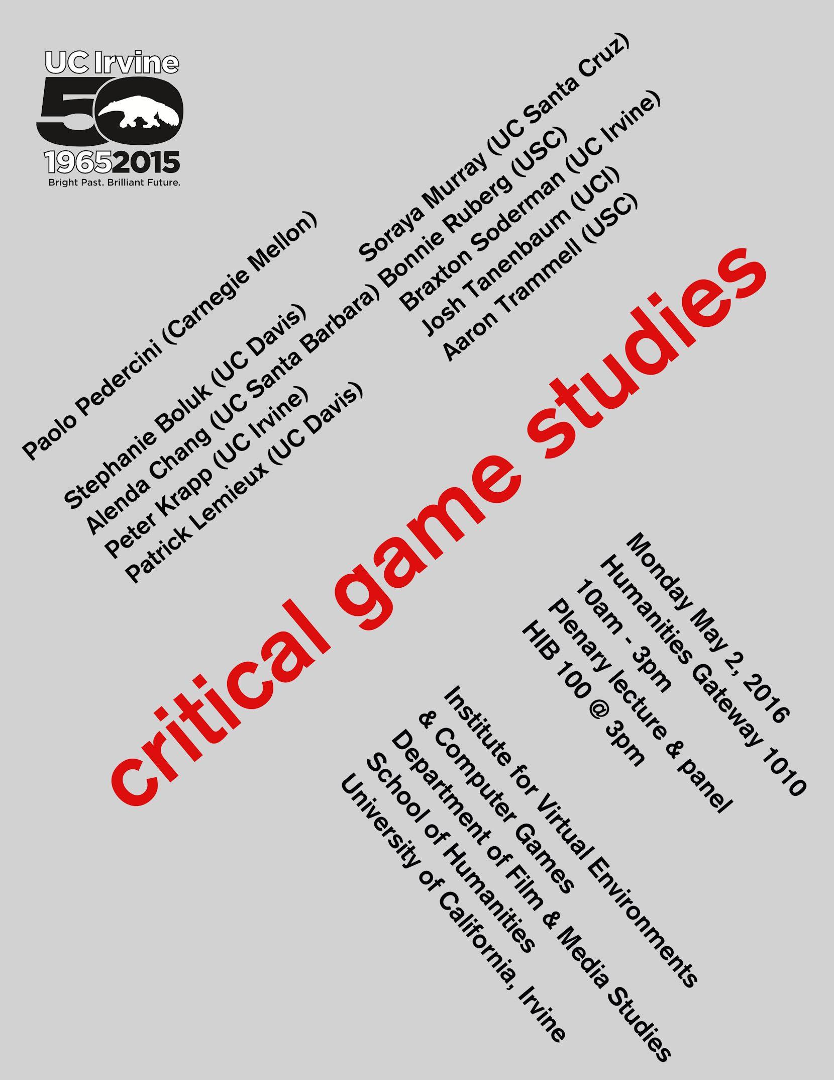 03022016 Critical Game Studies